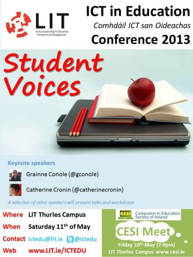 ICT in Education Conference 2013 Flyer
